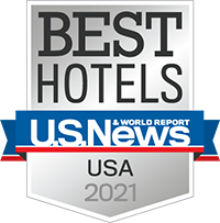 US News & World Report Best Hotels of 2021 badge