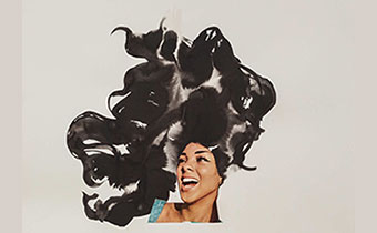 Lorna Simpson art piece collage on paper